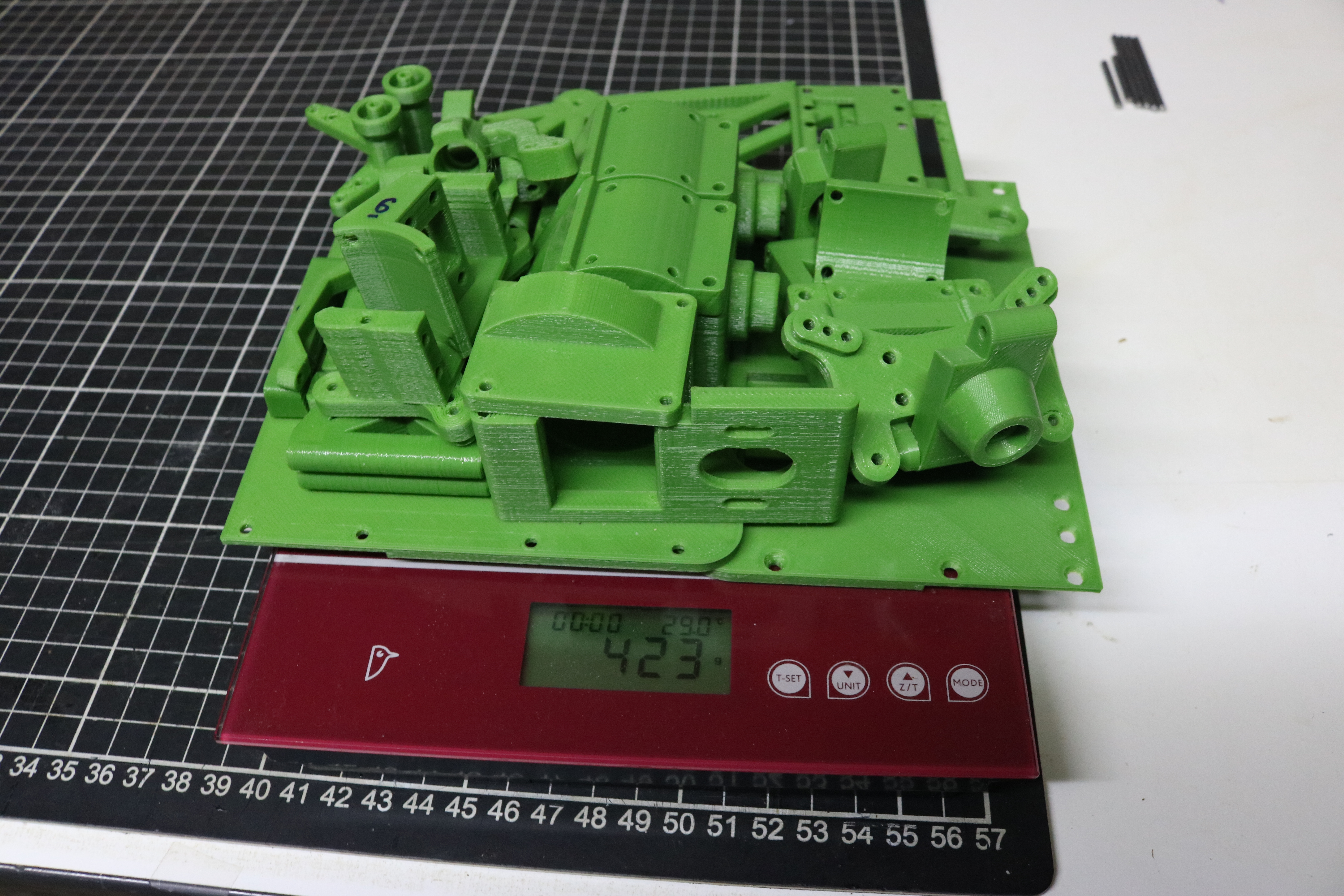 OBTS Chassis Parts Un-assembled weight
