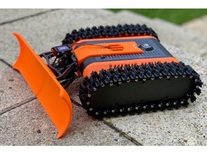 Snow Plow for FPV Rover