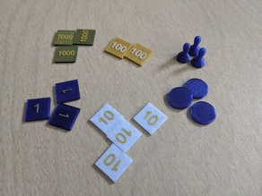 Montessori Stamp Game Pieces