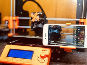 Prusa iMk3s Phone Bed TimeLapse Holder