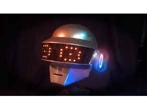 JordyM's Daft Punk Helmet in 4 pieces with spots for LED rings