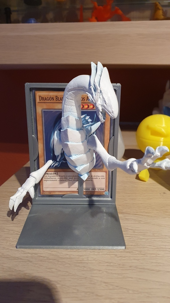 Blue-Eyes White Dragon with stand