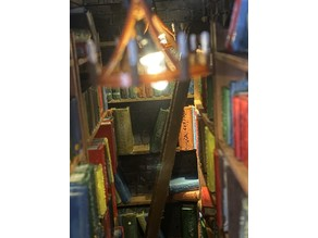 Miniature Library Book Ladder