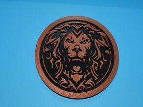 Valor Lion Logo Coaster