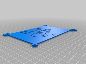 Template plate for info_rating_fun - OpenScad