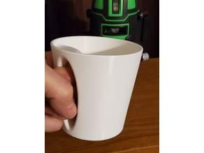 Mug with inverted handle alternative