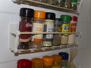 Minimalistic spice rack (customizable)