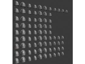 Space Marine Shoulder Pads - Squad Markings