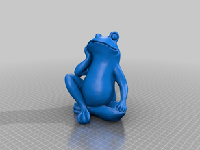 Bored Frog fountain sculpture