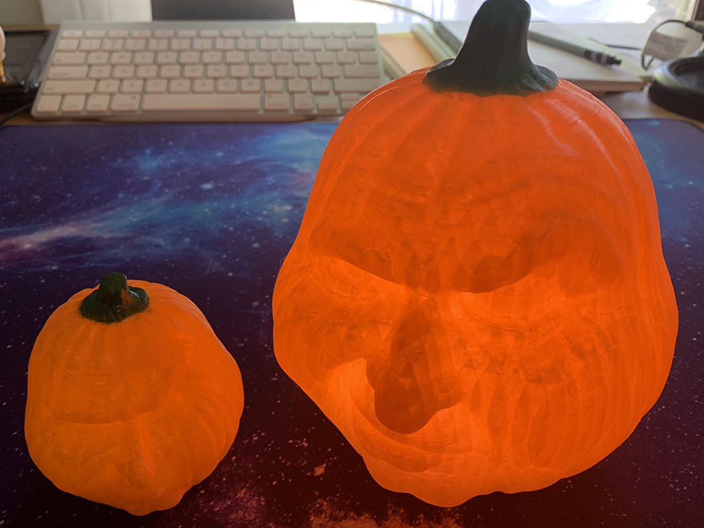 Grumpy Pumpkins Recessed for LED Lights