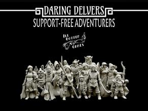 Daring Delvers: Support Free Adventurers