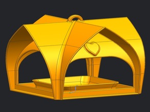 mangiatoia per volatili con tetto curvo - bird feeder with curved roof