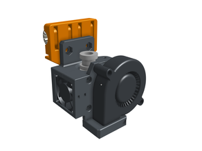 E3D V6 bowden extruder mount with BLTouch