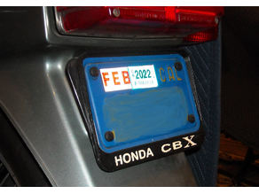 Motorcycle Plate Frame (reverse)