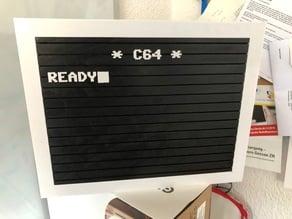Commodore C64 Letter Board Sign