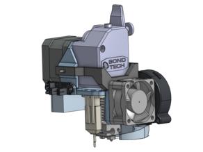 UNI - direct BMG + E3D V6 hotend mount (v. 2, with magnets)