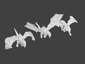 Drakon Miniatures: Remixes of Valandar's Drake Miniatures