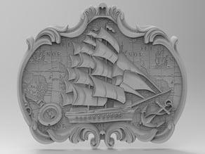 Sailing ship for CNC