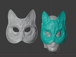 Splicer Cat Mask (Shape variation)