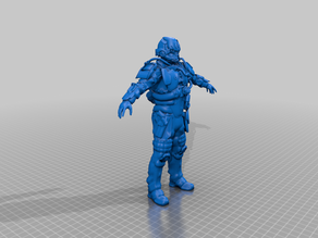Helghast Assault soldier rigged