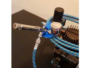 Airbrush support for compressor