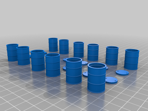 1/24 45 Gallon Oil Drums