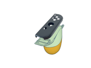Nintendo Switch joy-con shell backplate with added grip