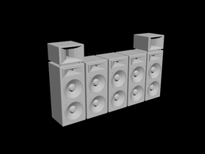 Music Stage Speakers 1/24 scale model