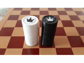 Checkers stackable  2 colors