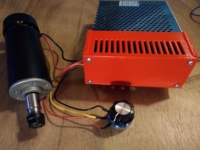 PSU cover for 500W cnc-spindle, easy maintenance
