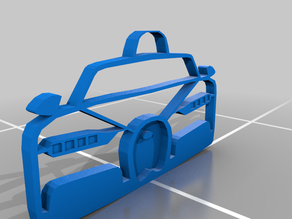 Bugatti Chiron KeyChain 3d Printable