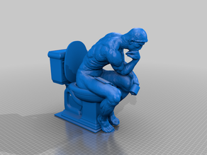 Thinker on the toilet