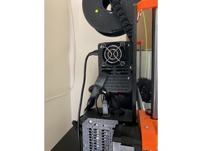 PRUSA like - Raspberry PI 4 case with a 40x40 fan and bracket for MK3/S