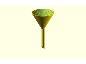 Customizable laboratory funnel for gravity filtration