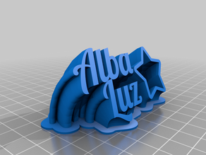My Customized Sweeping 2-line name plate (text)alba