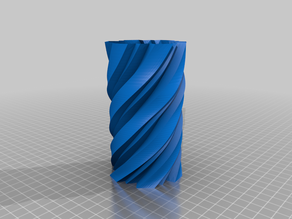 Vase Twisty Angular