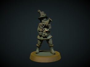 Highwayman with blunderbuss 28mm (no supports needed)