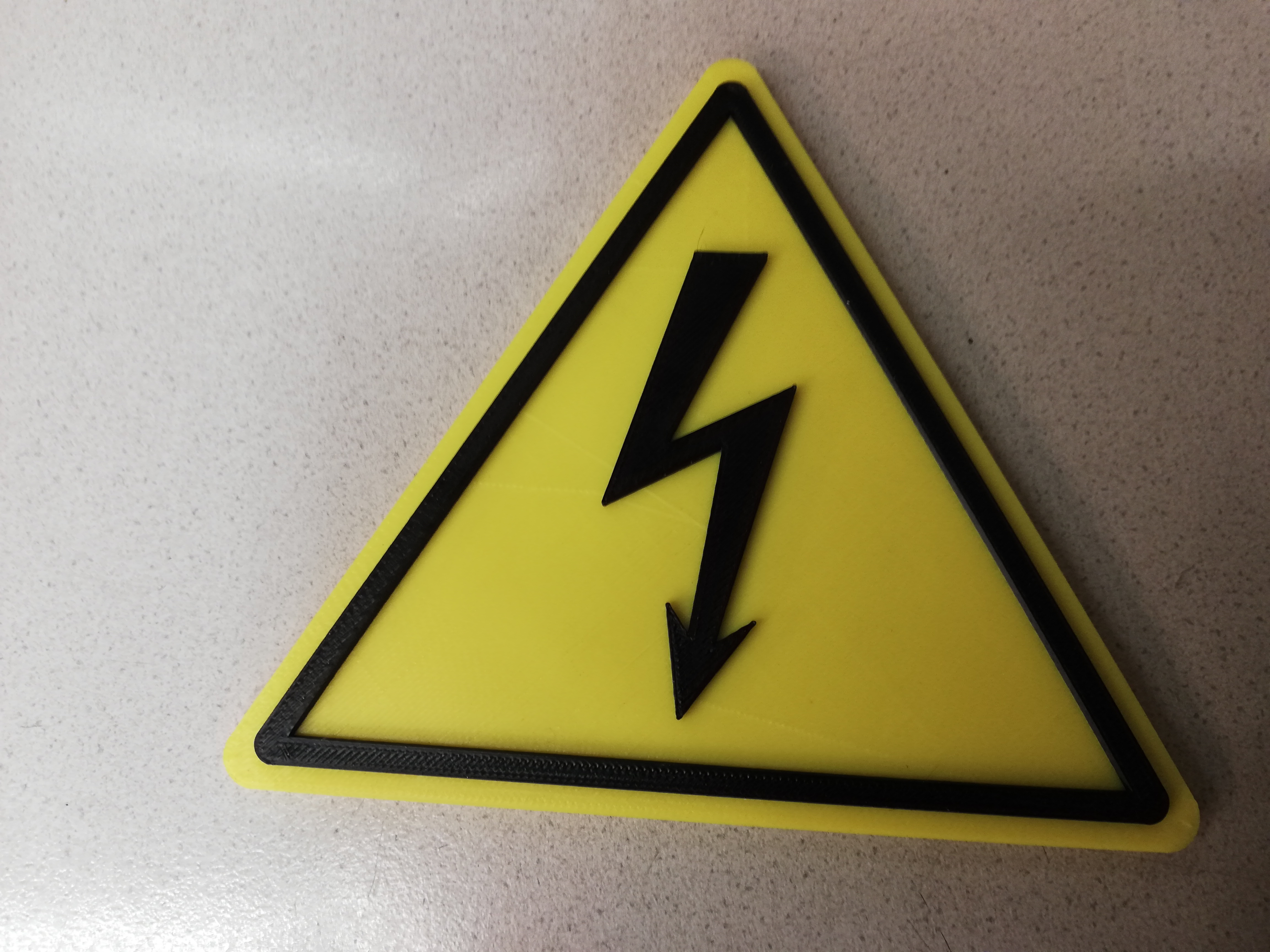 Warning sign Electrical voltage