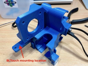 """MONOBLOCK"" ANYCUBIC I3 MEGA-S Direct Extruder MOD + X-Tensioner  + BLTouch"