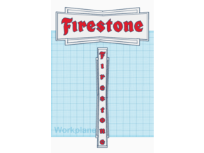 FIRESTONE Old Signage-plaque