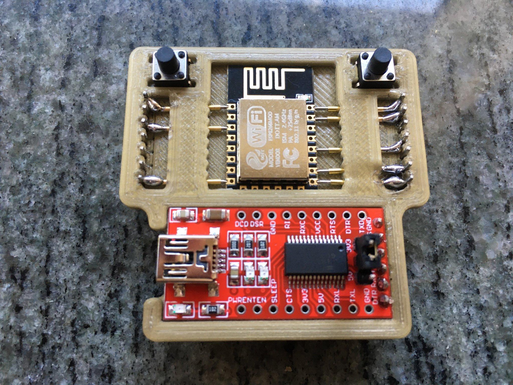 ESP-12E pogo pin programmer