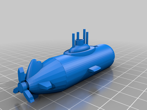 Benchy Submarine The jolly 3D printing torture-test (Hard)