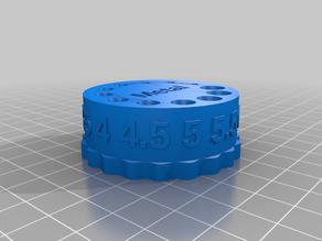 1 - 6.5 mm Drill Bit Carousel for Ikea Skadis
