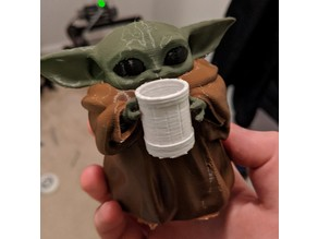 Baby Yoda Holding a Beer (Multimaterial)