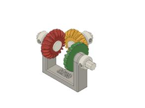 M29 model : bevel gear trains
