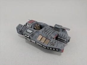 Sci-fi Armored Combat Speeder