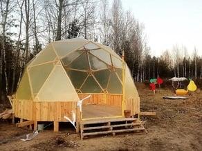 Geodesic dome wood D5.2m goodkarma miter box