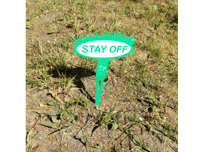 Stay off the grass lawn stake