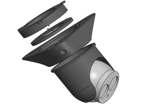 Housing for security camera - round model