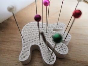 Pincushion in a hand shape